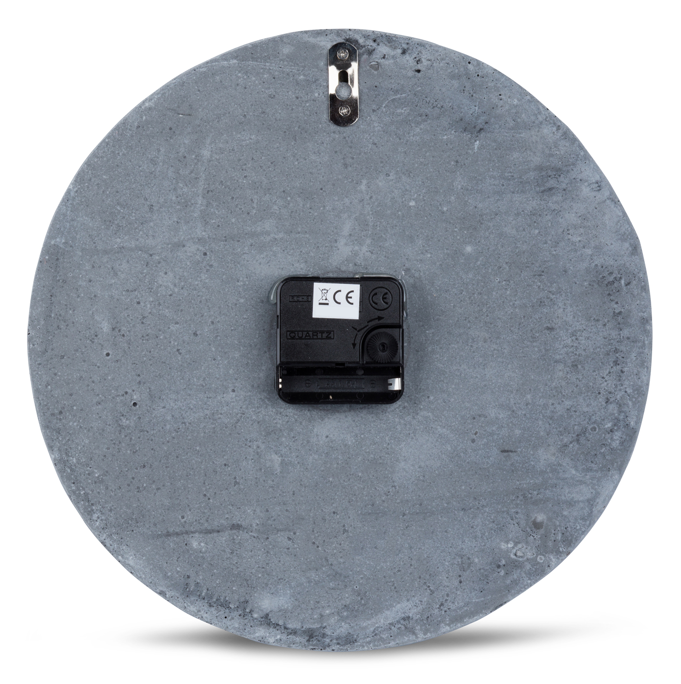 High Quality Concrete Clock Wall In Grey Copper Time