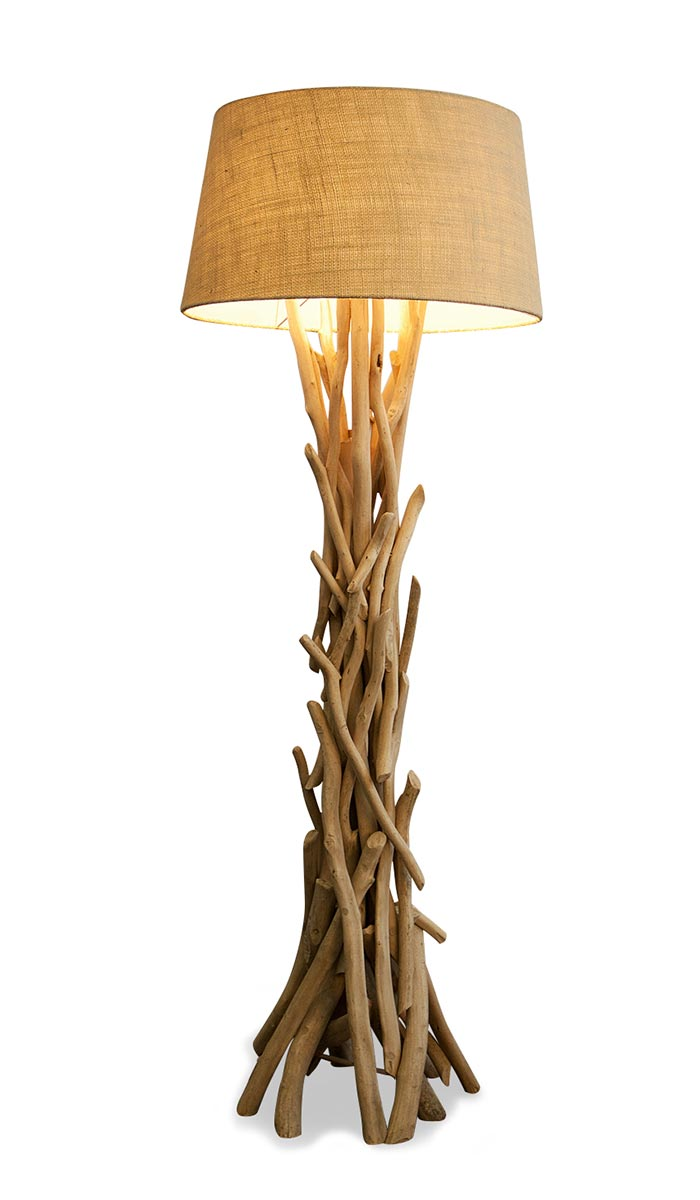 lampe stehlampe 155cm holz holzlampe unikat braun treibholz stand leuchte ebay. Black Bedroom Furniture Sets. Home Design Ideas