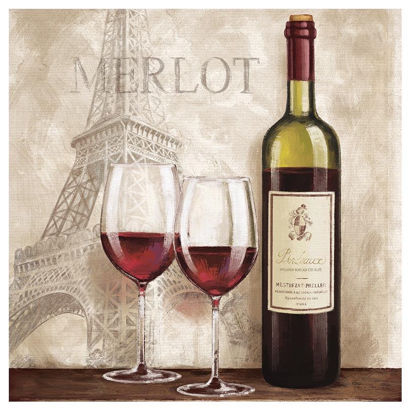 Details zu levandeo Glasbild 30x30cm Wandbild Glas Frankreich Küche Deko  Wein Bild