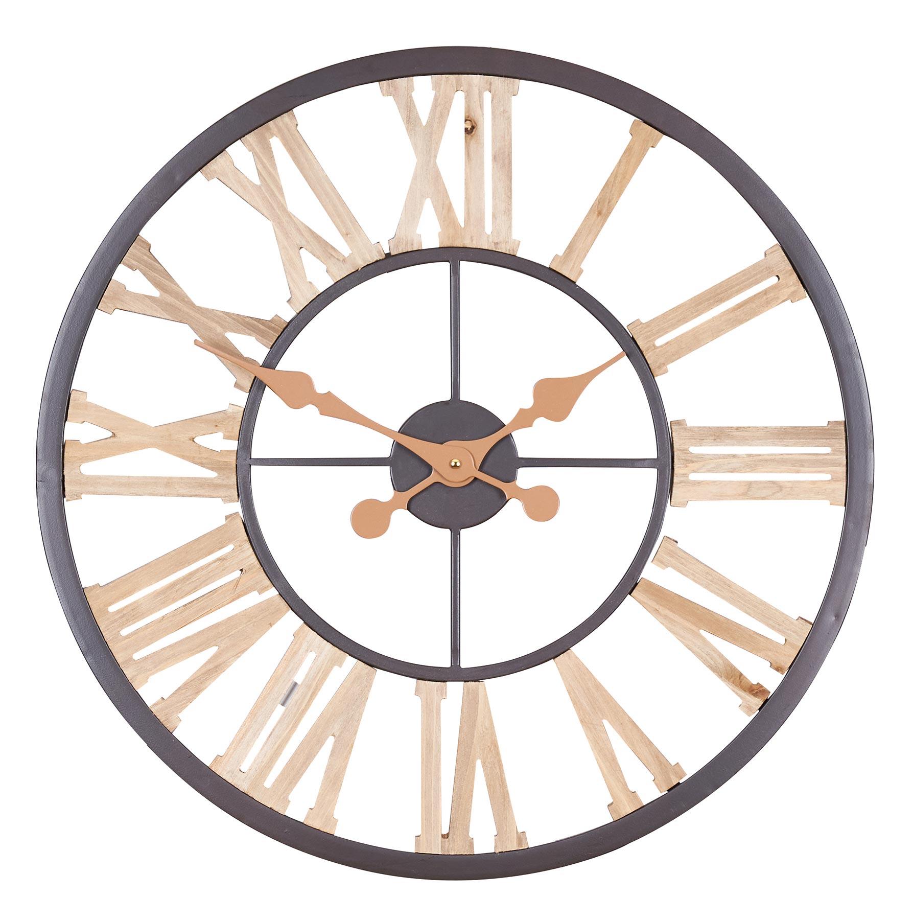 Détails sur XXL Horloge Murale 15cm Montre Bois Braun de Cuisine Décoration  Chiffres