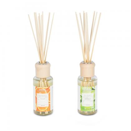 2er Set Raumduft 100ml Lemongras Orange Lufterfrischer Stäbchen Duft
