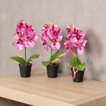 3er set orchideen 20x4cm rosa wei kunstblume deko pflanze levandeo. Black Bedroom Furniture Sets. Home Design Ideas