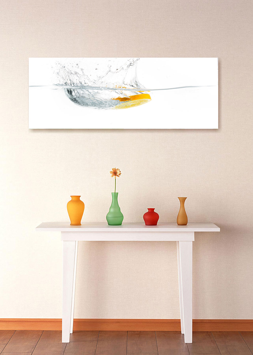 levandeo Glasbild 30x80cm Wandbild Glas Frucht Fruit Orange ...