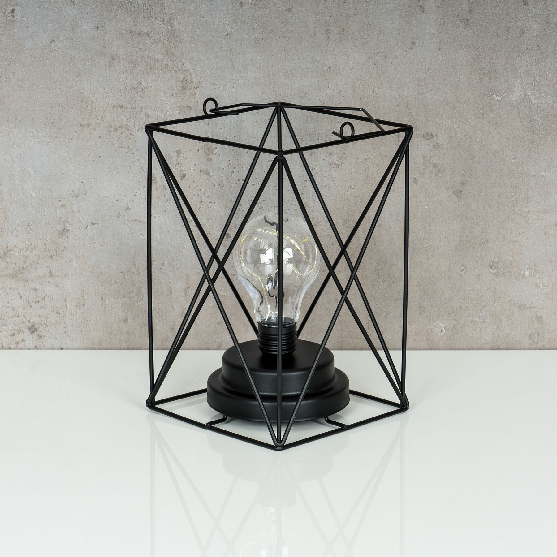 Lampe LED Metall Schwarz 12x19cm Industrie Leuchte Industrial Design ...