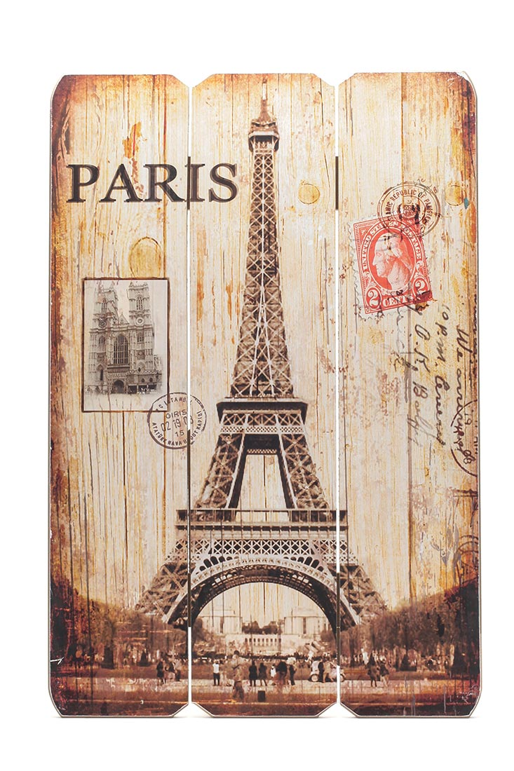 holz schild wandschild paris france schild wandbild eiffelturm vintage levandeo. Black Bedroom Furniture Sets. Home Design Ideas