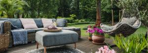 Gemütliche Garten-Terrasse zum Verweilen und entspannen